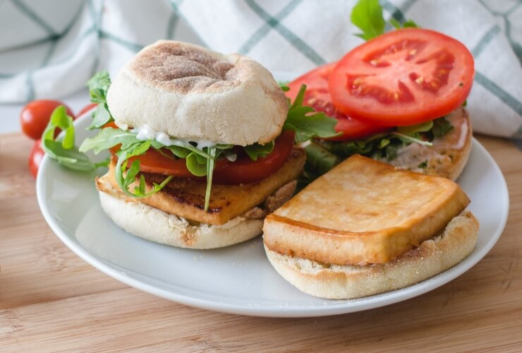 This vegan sandwich uses fresh ingredients that are healthy