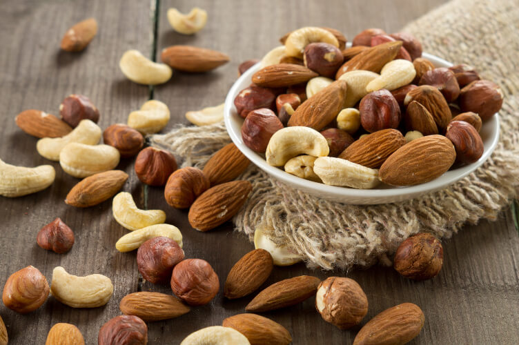 Nuts are a good source of omega-3 fatty acids.