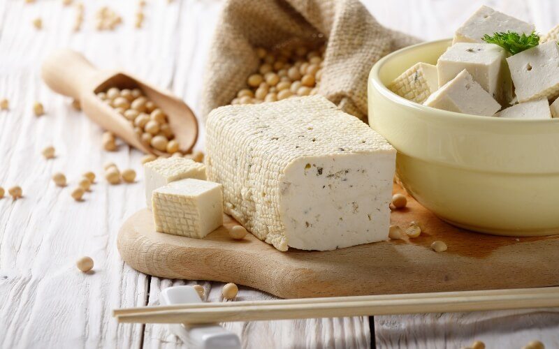Vegan cheese made from soy