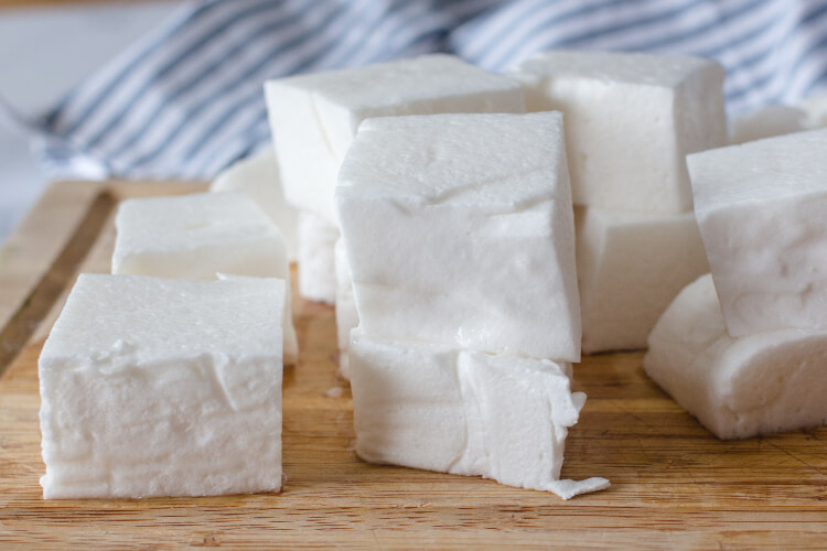 Sliced marshmallows