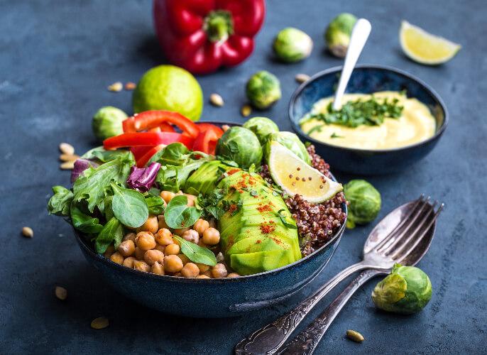 The balanced vegan plate