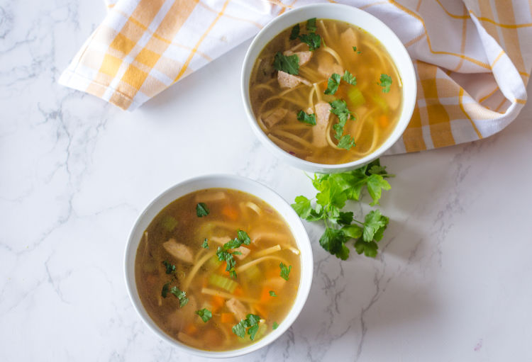 Comforting Vegan Chicken Noodle Soup