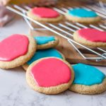 Vegan Iced Sugar Cookies